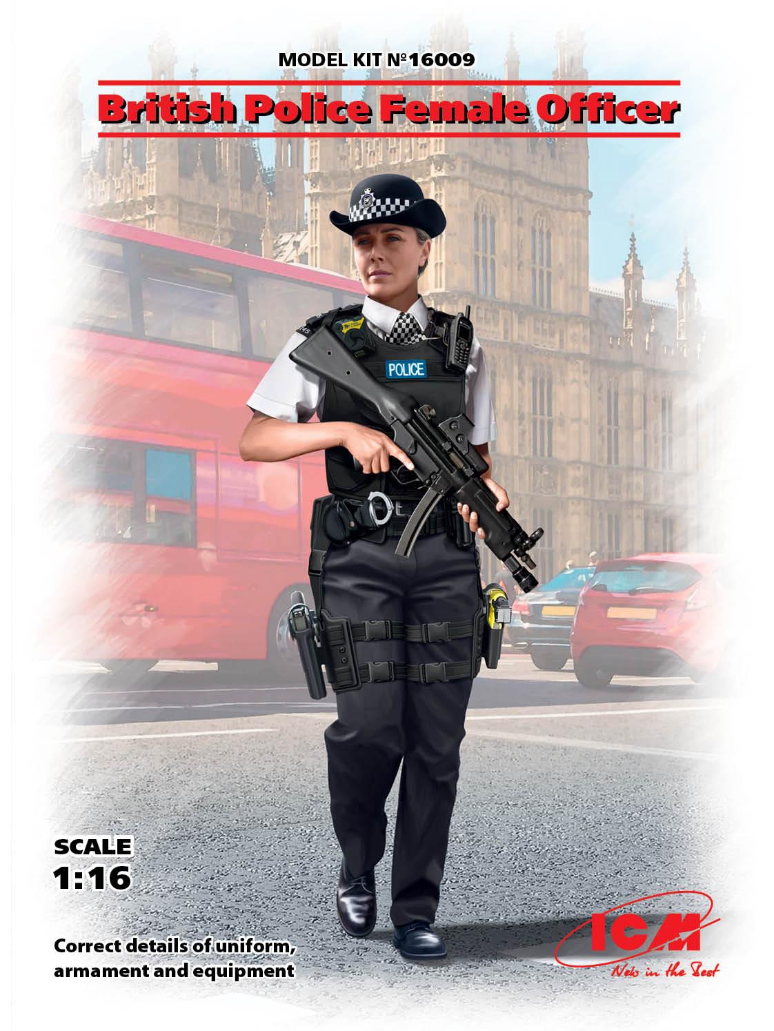 ICM 1/16 British Police Female Officer (100% new molds)