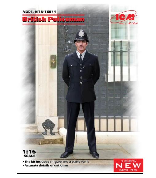ICM 1/16 British Policeman (100% new molds)