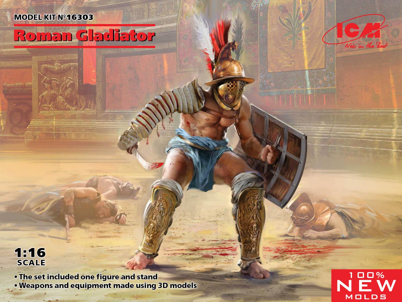 ICM 1/16 Roman Gladiator (100% New Molds)