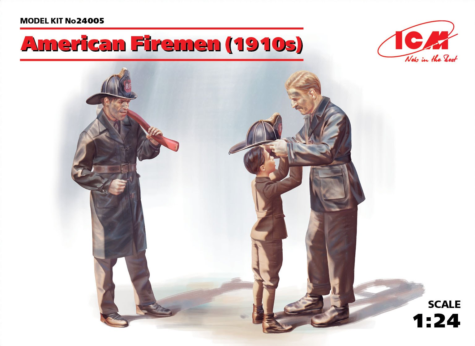 ICM 1/24 American Firemen (1910s) (3 figures)