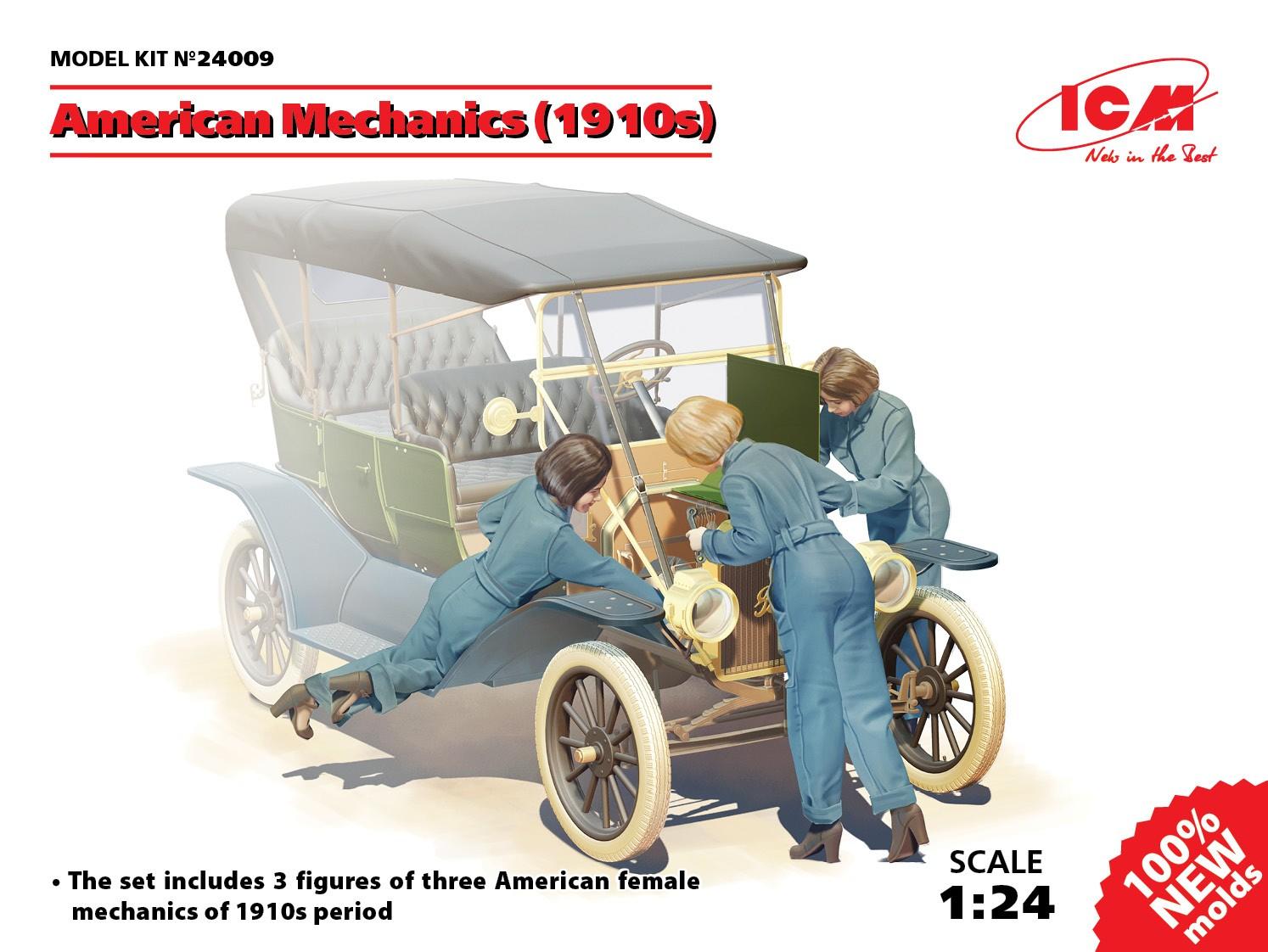 ICM American mechanics (1910s) (3 figures)