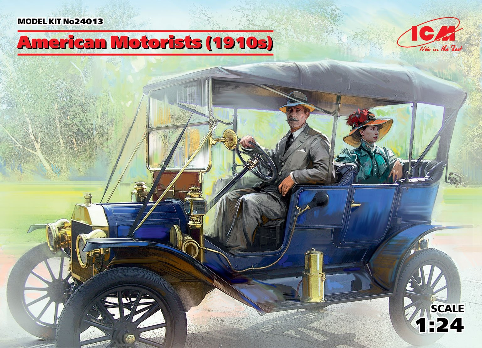 ICM American Motorists (1910s) (1 male, 1 female figures) (100% new molds)