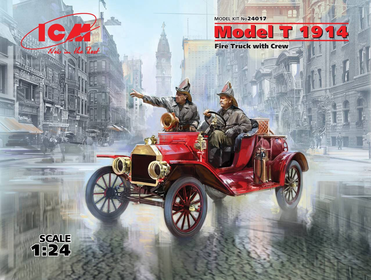 ICM Model T 1914 Fire Truck with Crew
