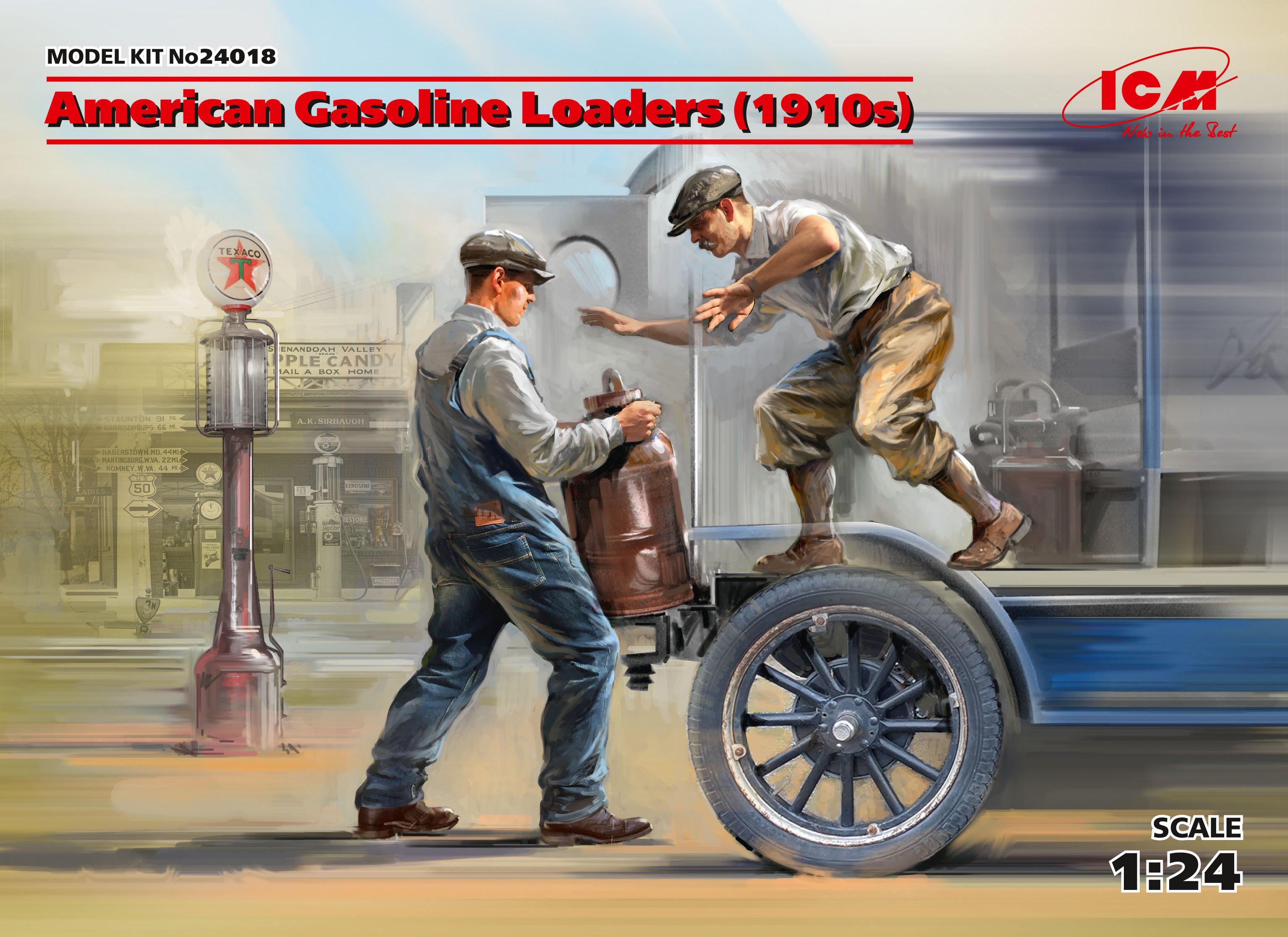 ICM American Gasoline Loaders (1910s) (2 figures) (100% new molds)