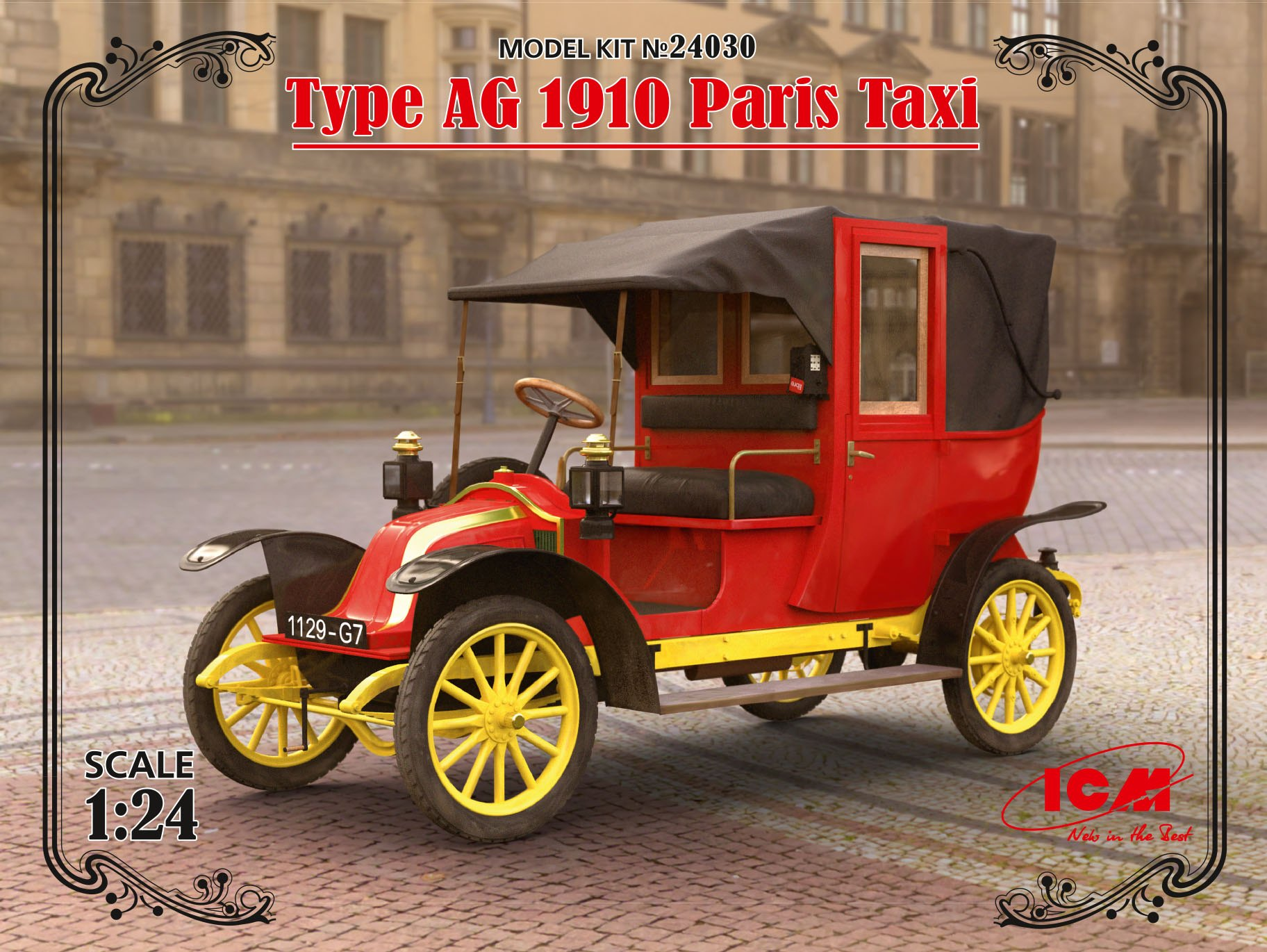 ICM Type AG 1910 Paris Taxi (100% new molds)