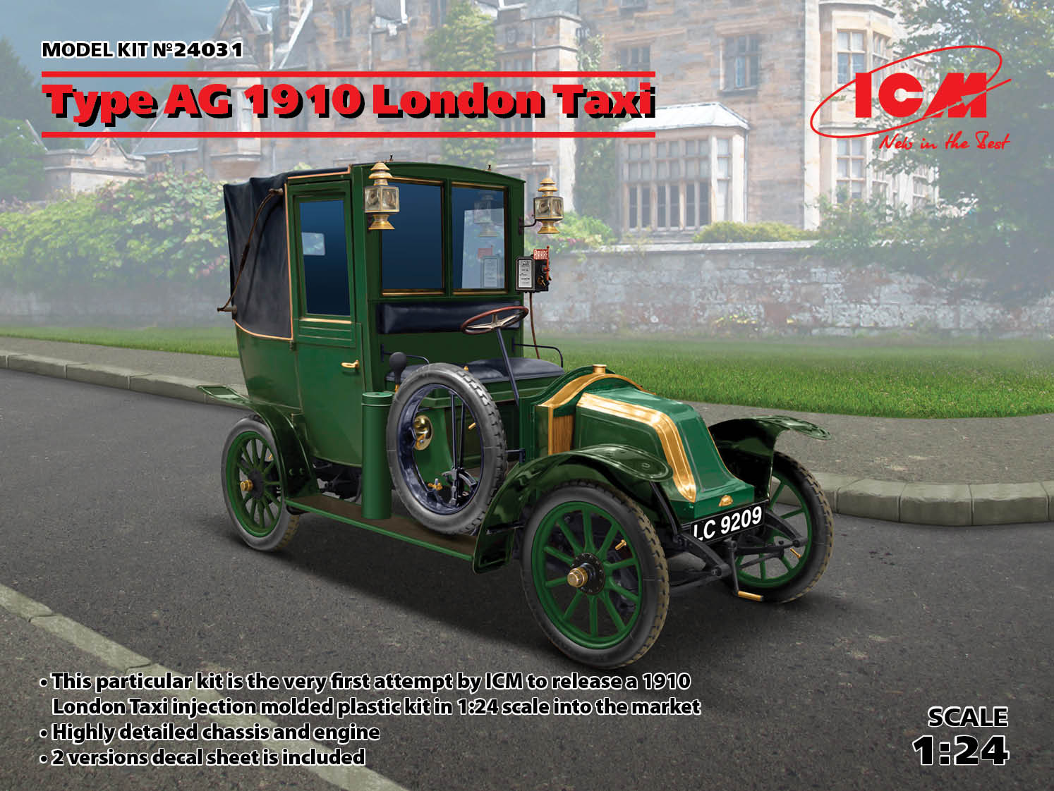 ICM 1/24 Type AG 1910 London Taxi