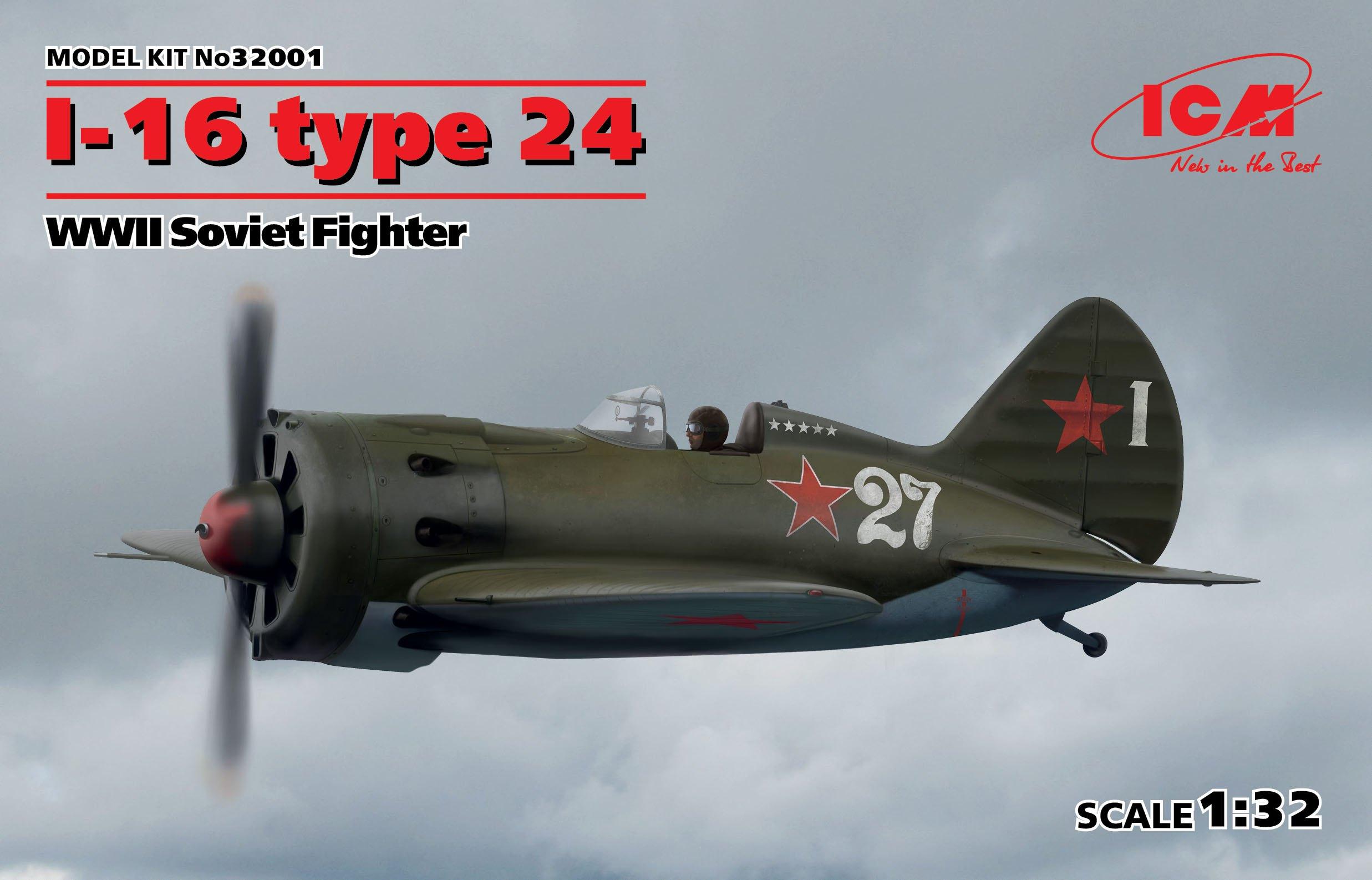 ICM I-16 type 24, WWII Soviet Fighter