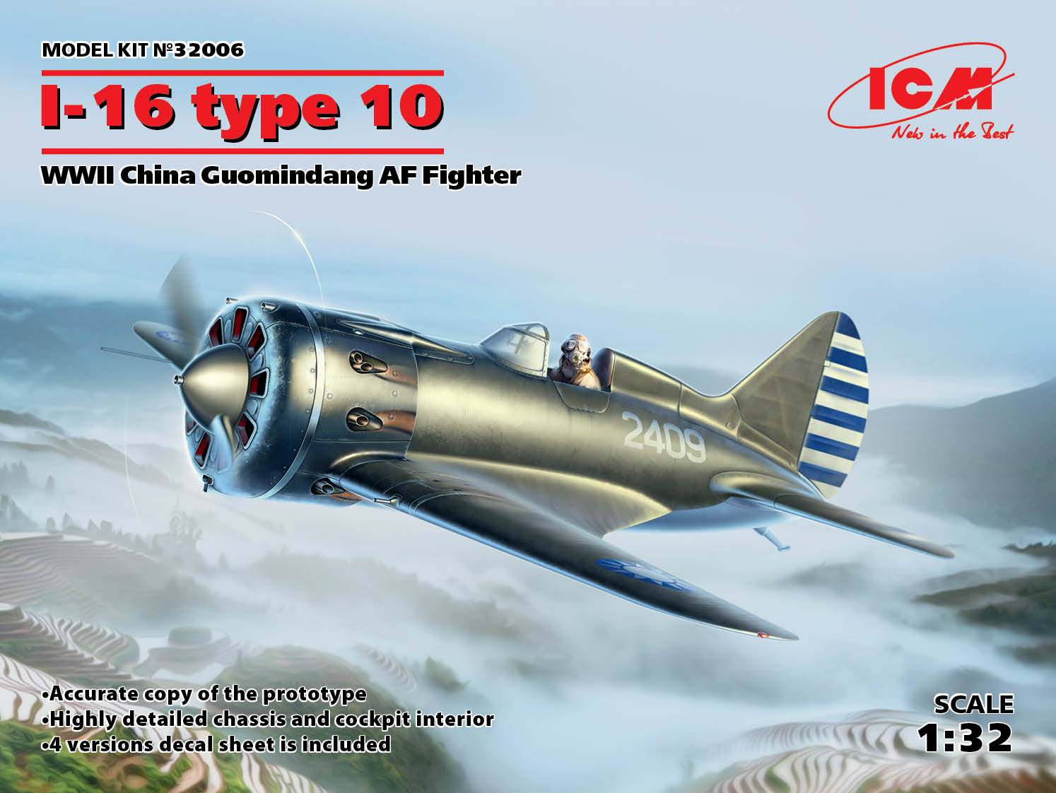 ICM I-16 type 10, WWII China Guomindang AF Fighter