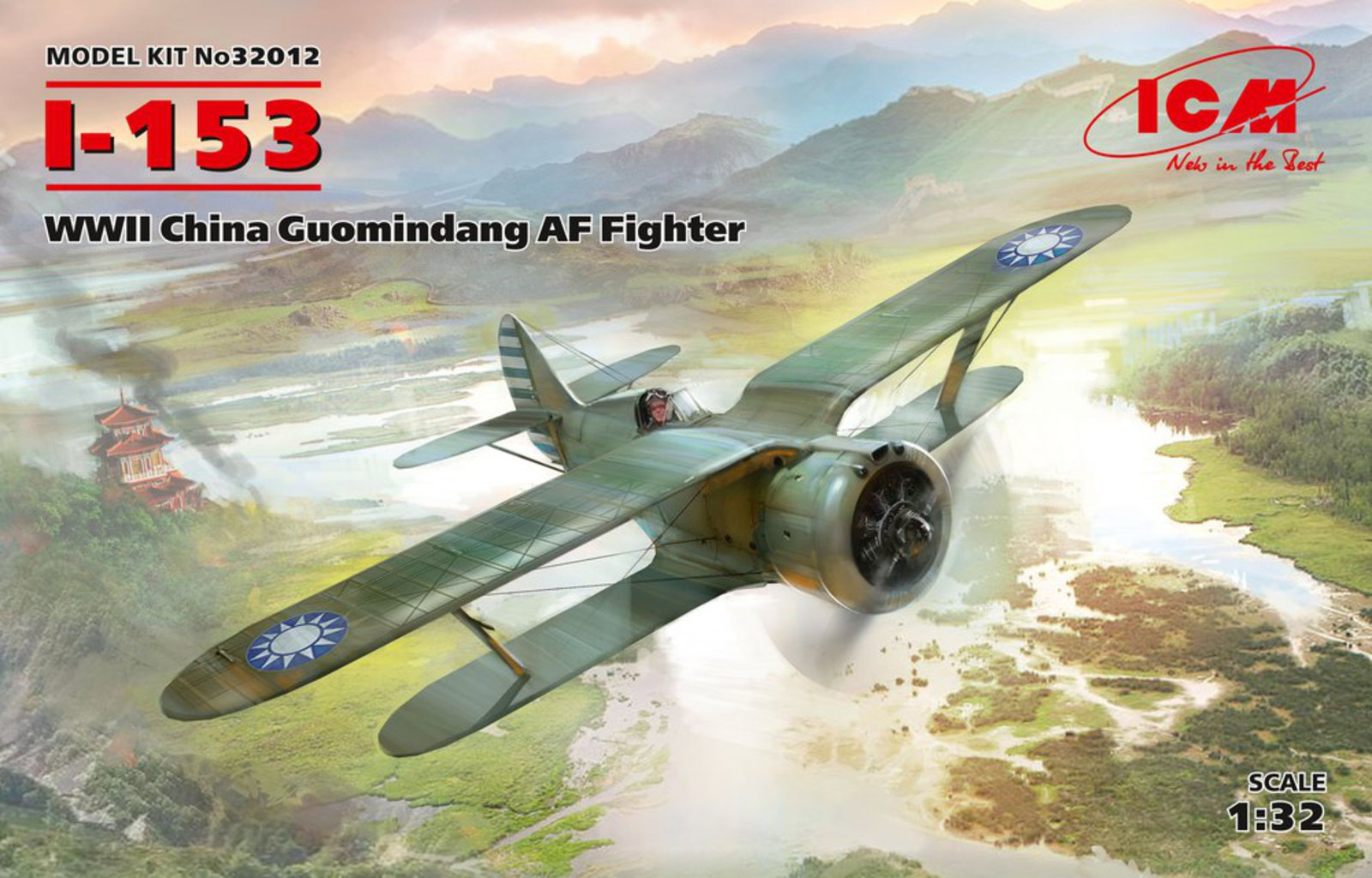 ICM I-153, WWII China Guomindang AF Fighter