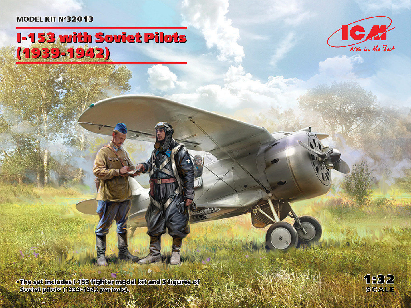 ICM I-153 with Soviet Pilots (1939-1942) 1/32 Scale