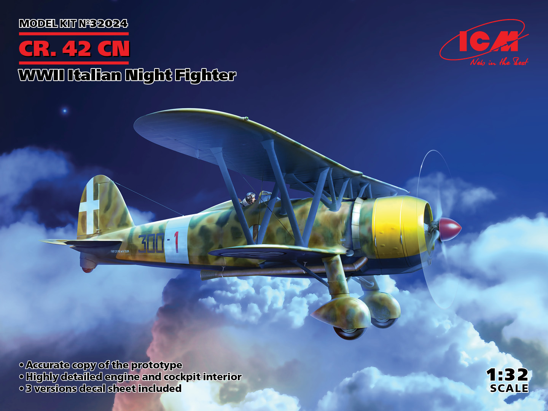 ICM 1/32 CR. 42CN, WWII Italian Night Fighter