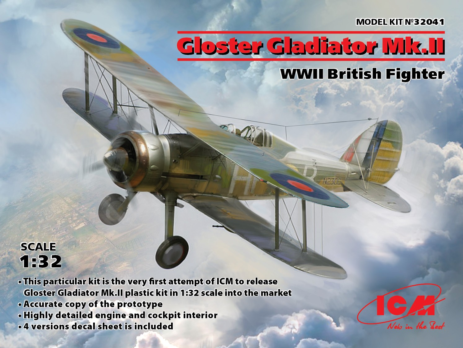 ICM Gloster Gladiator Mk.II, WWII British Fighter