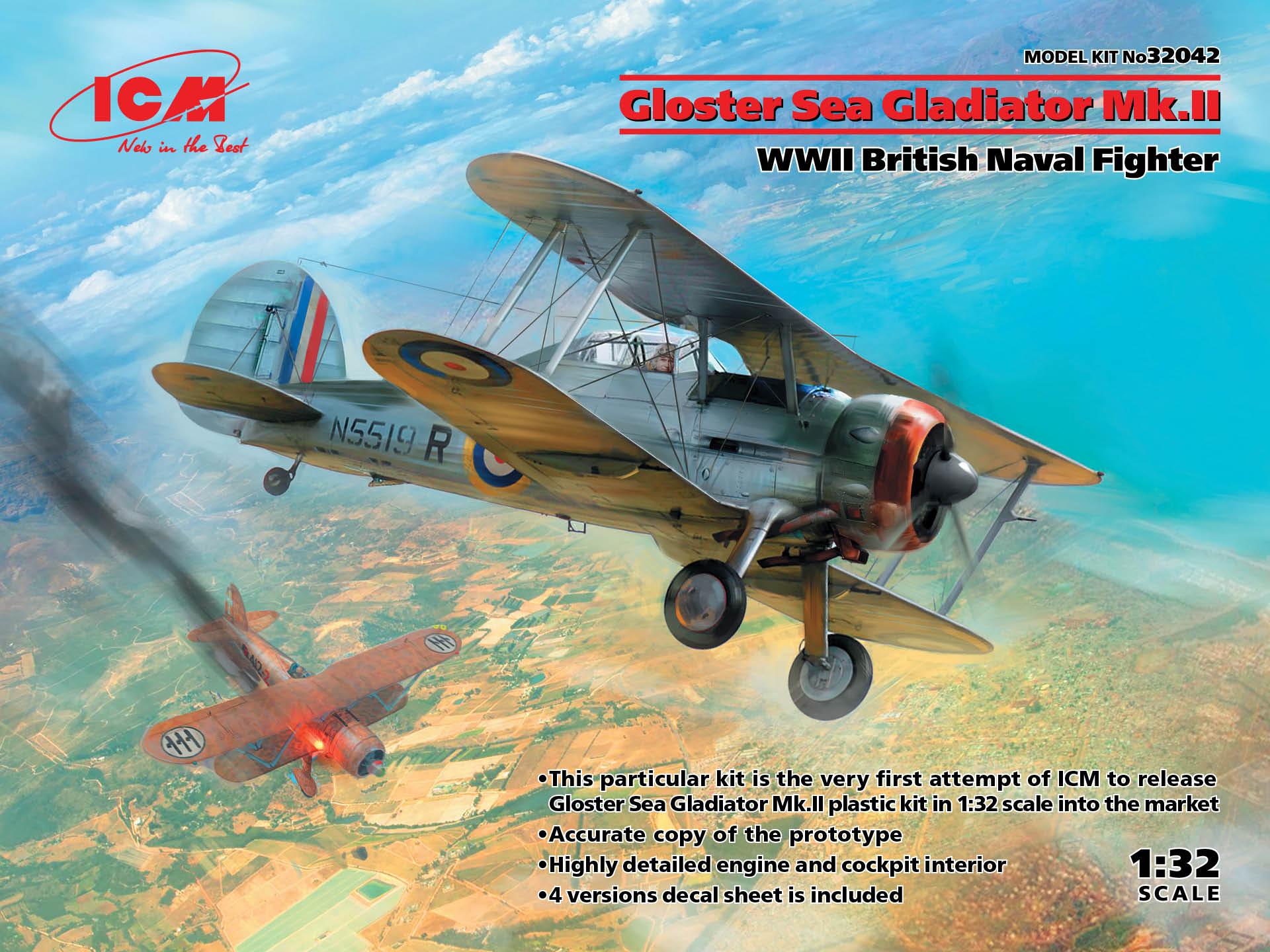ICM 1/32 Gloster Sea Gladiator Mk.II, WWII British Naval Fighter