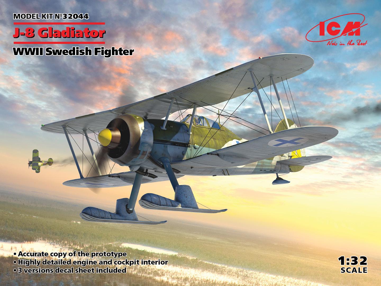 ICM 1/32 J-8 Gladiator, WWII Swedish Fighter