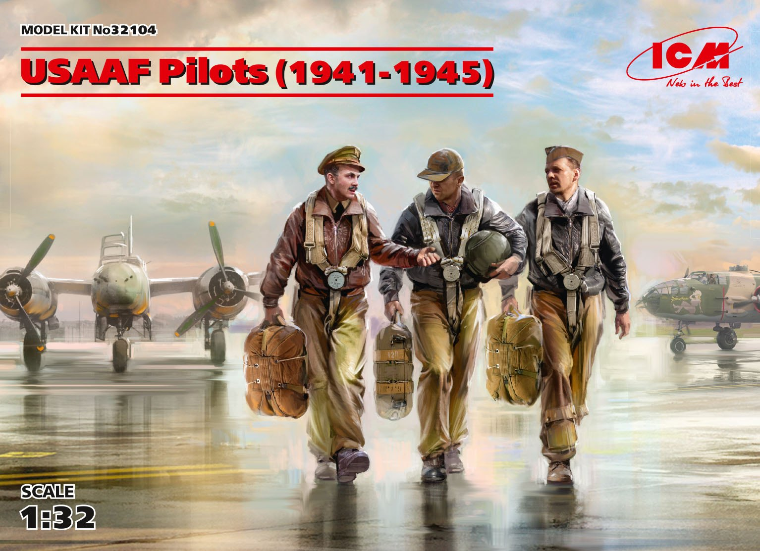 ICM USAAF Pilots (1941-1945) (3 figures) (100% new molds)