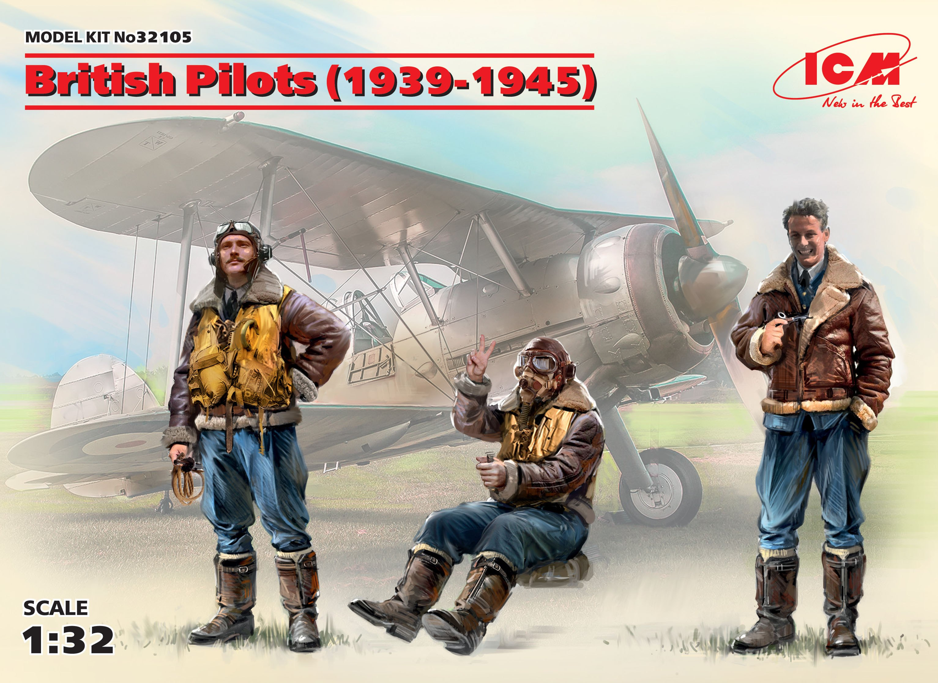 ICM British Pilots (1939-1945) (3 figures) (100% new molds)