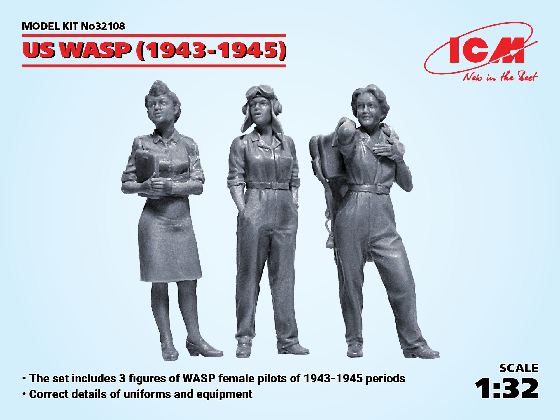 ICM US WASP (1943-1945) (3 figures) (100% new molds)