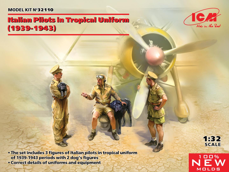 ICM 1/32 Italian Pilots in Tropical Uniform 1939-1943 (100% New Molds)