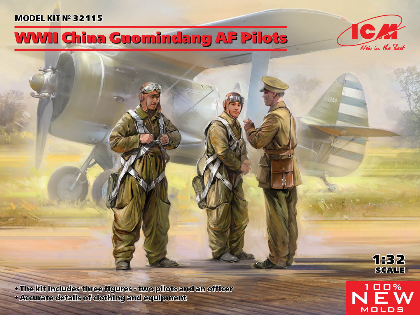 ICM 1/32 WWII China Guomindang AF Pilots (100% new molds)
