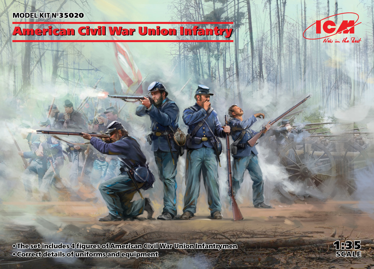 ICM American Civil War Union Infantry (new molds) 1/35 Scale