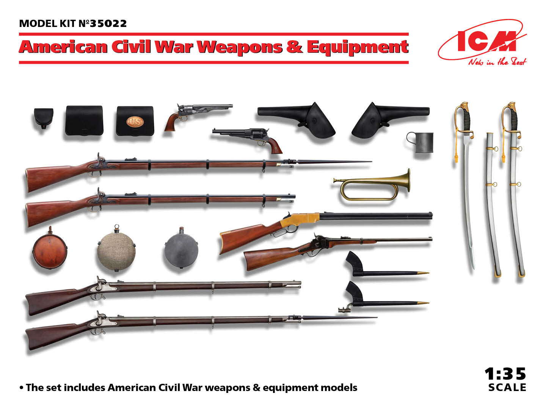 ICM 1/35 US Civil War Weapons & Equipment