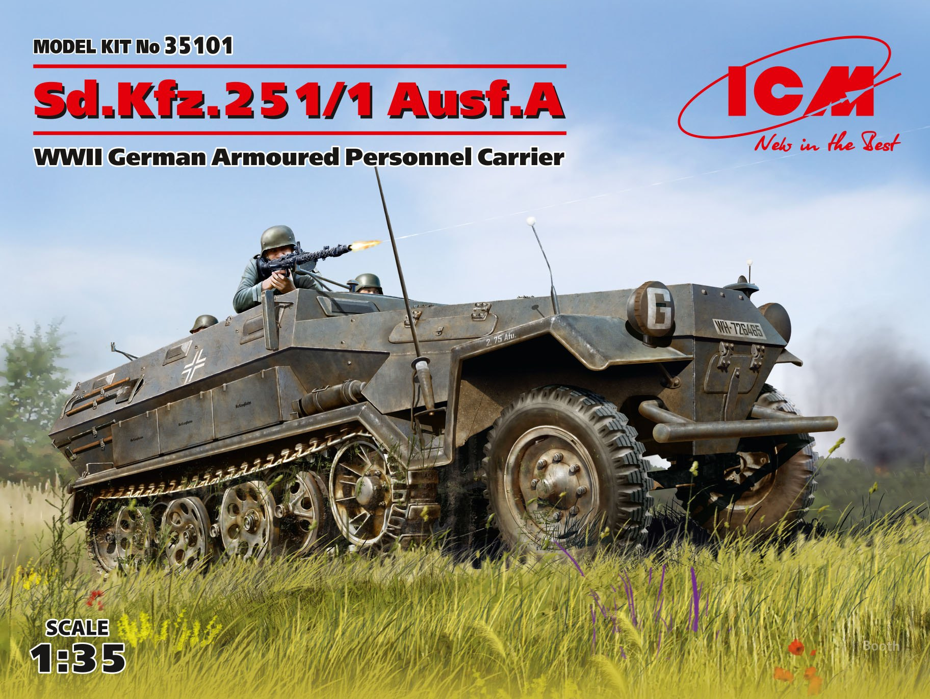 ICM Sd.Kfz.251/1 Ausf.A, WWII German Armoured Personnel Carrier