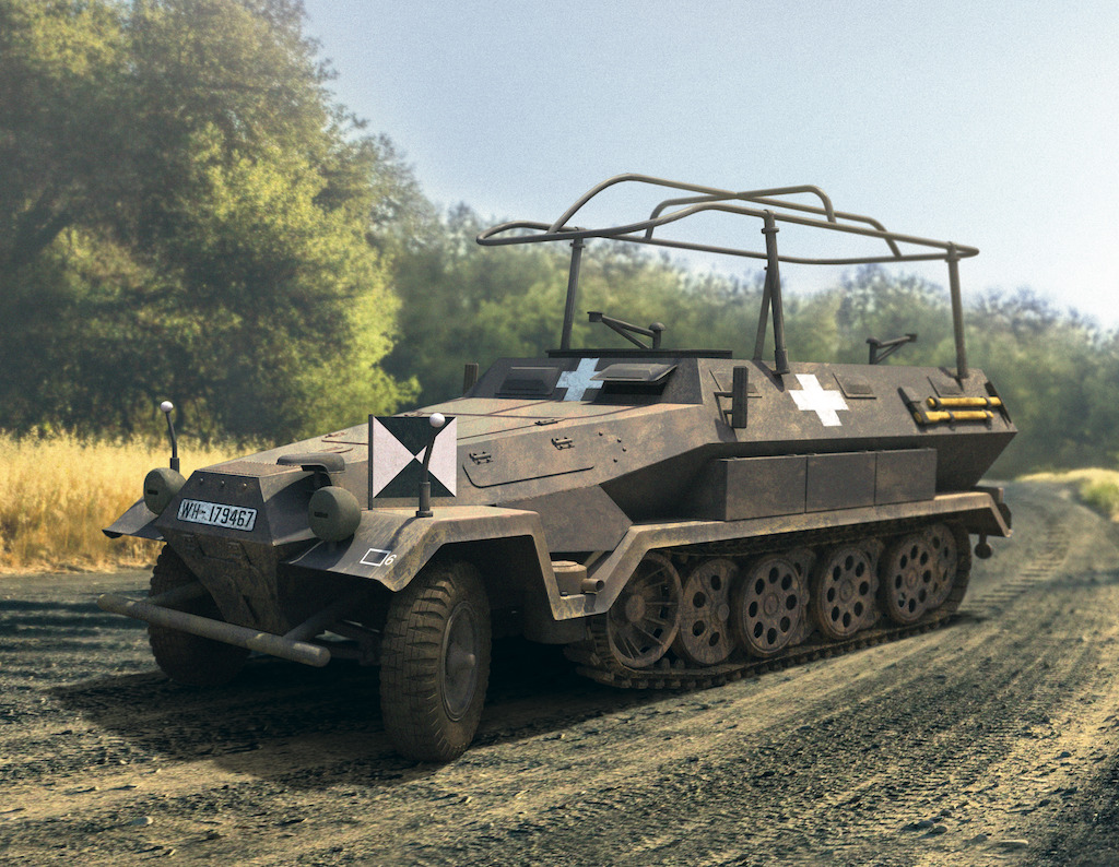 ICM Sd.Kfz.251/6 Ausf.A, WWII German Armoured Command Vehicle