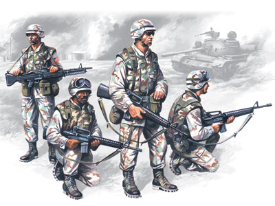 ICM US Elite Forces in Iraq (4 figures - 4 soldiers)