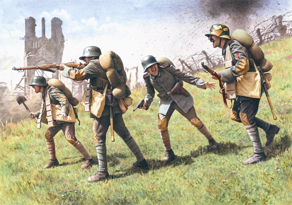 ICM 1/35 German Assault Troops (1917-1918) (4 figures - 1 unterofficer, 3 soldiers)