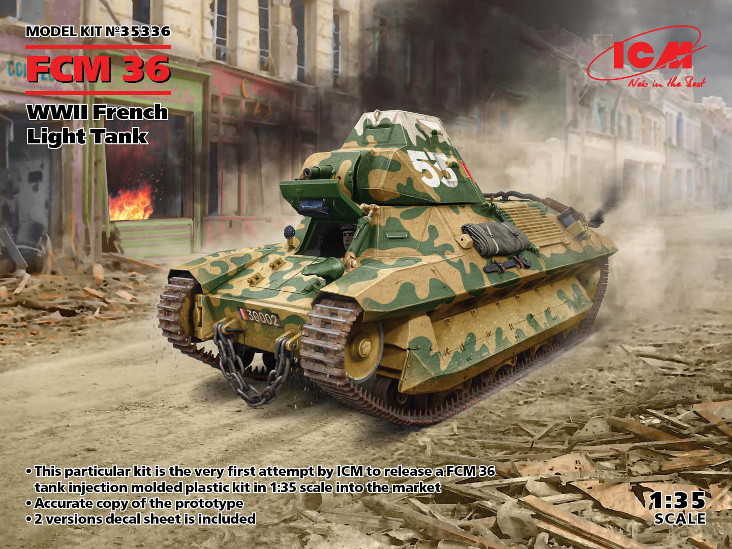ICM FCM 36, WWII French Light Tank (100% new molds)