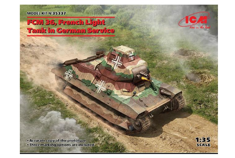 ICM 1/35 FCM 36, French Light Tank in German Service