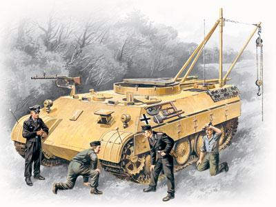 ICM Bergepanther with German Tank Crew (4 figures)