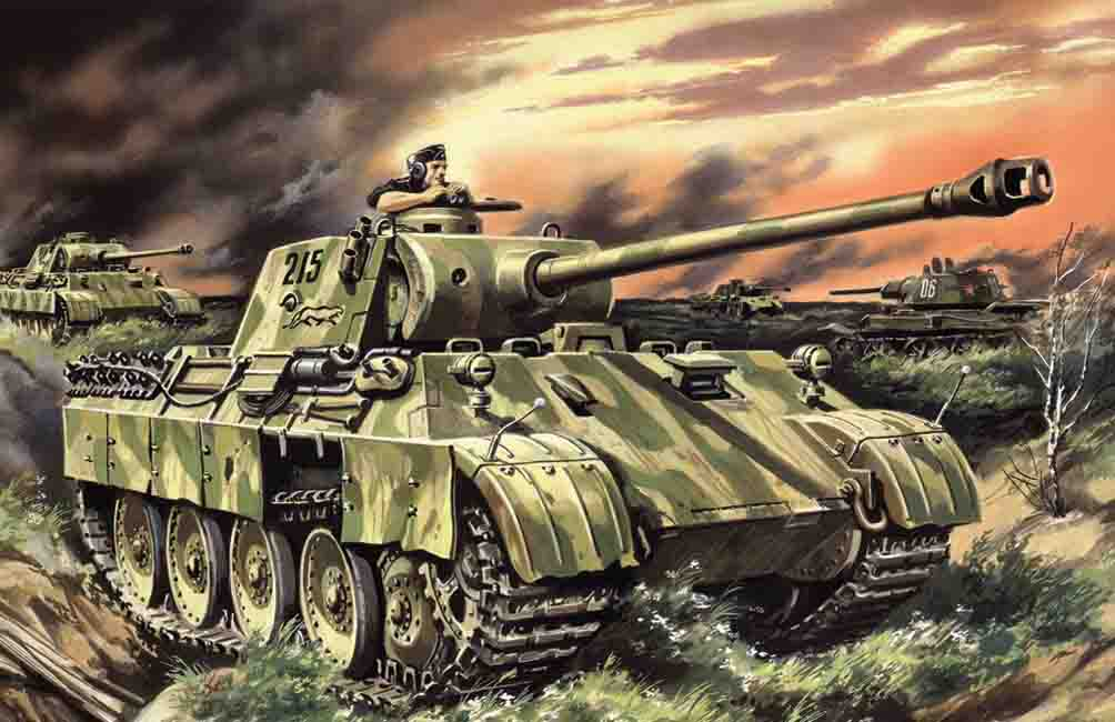 ICM Pz.Kpfw.V Panther Ausf.D, WWII German Tank