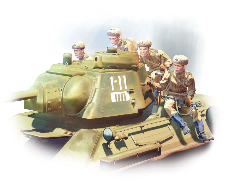 ICM T-34-76 with Soviet Tank Riders