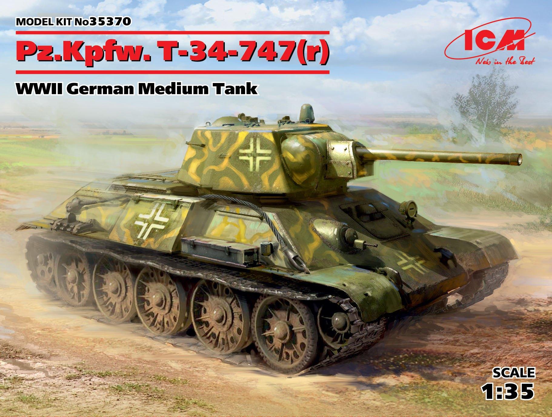 ICM Pz.Kpfw. T-34-747(r), WWII German Medium Tank