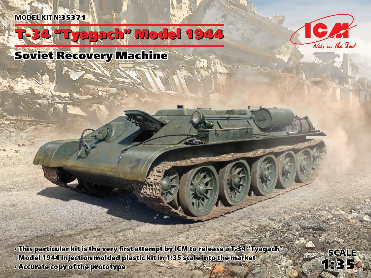 "ICM T-34 ""Tyagach"" Model 1944, Soviet Recovery Machine"