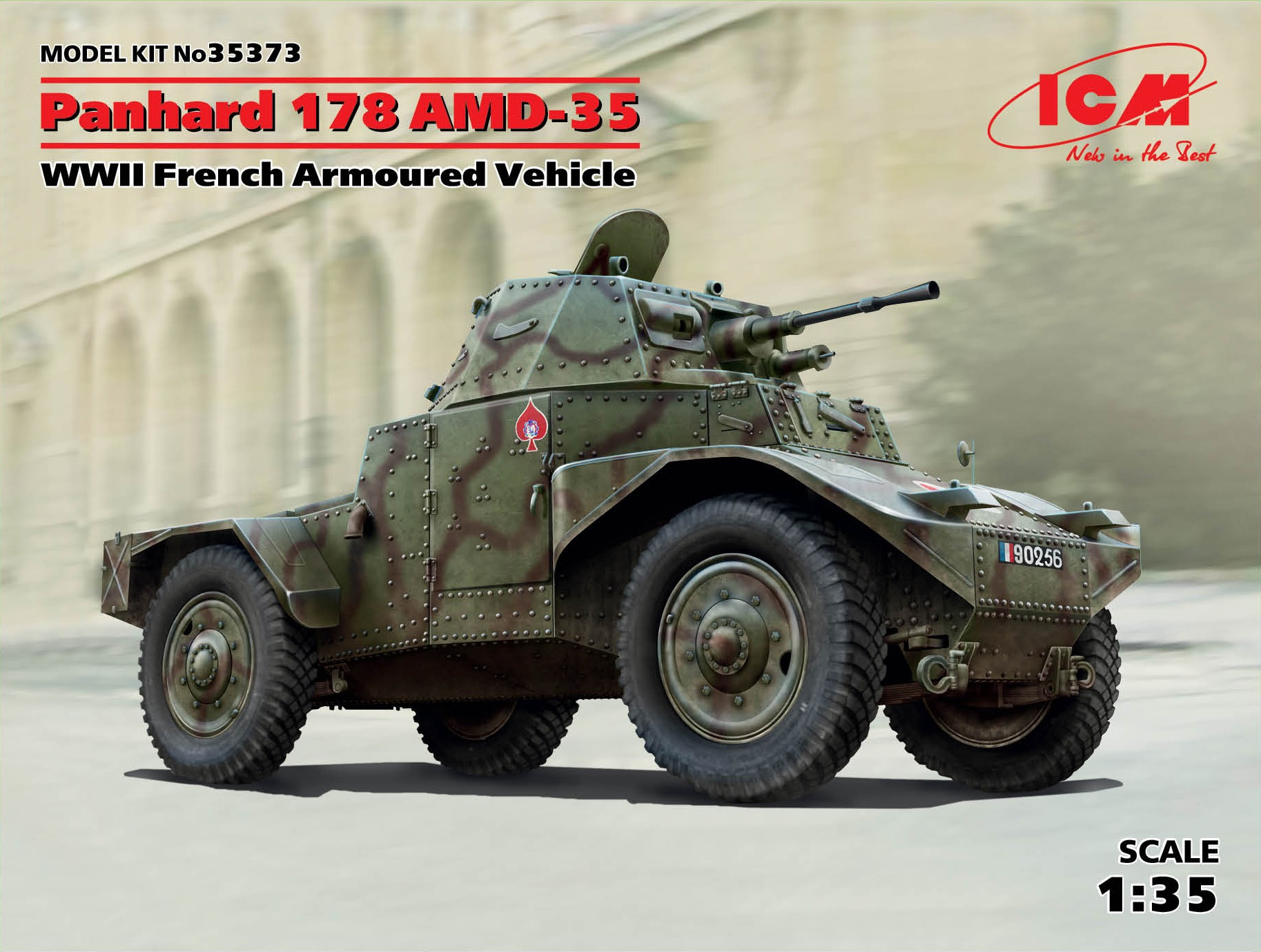 ICM 1/35 Panhard 178 AMD-35, WWII French Armoured Vehicle