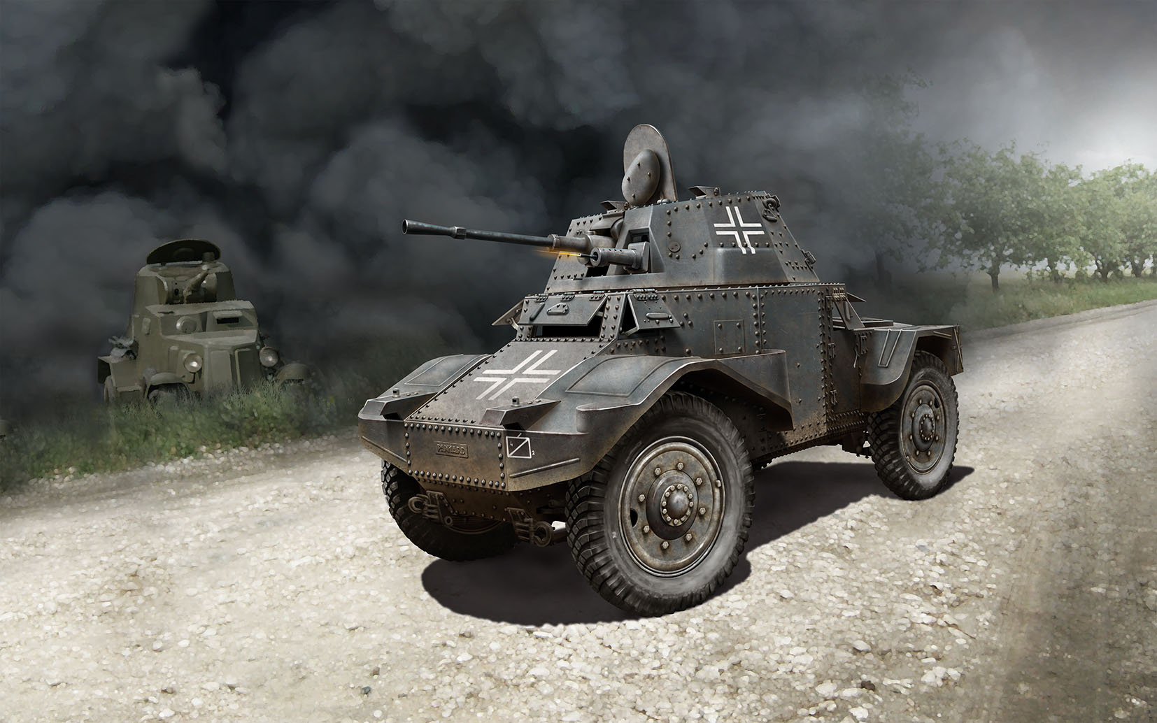 ICM Panzersp�hwagen P 204 (f), WWII German Armoured Vehicle