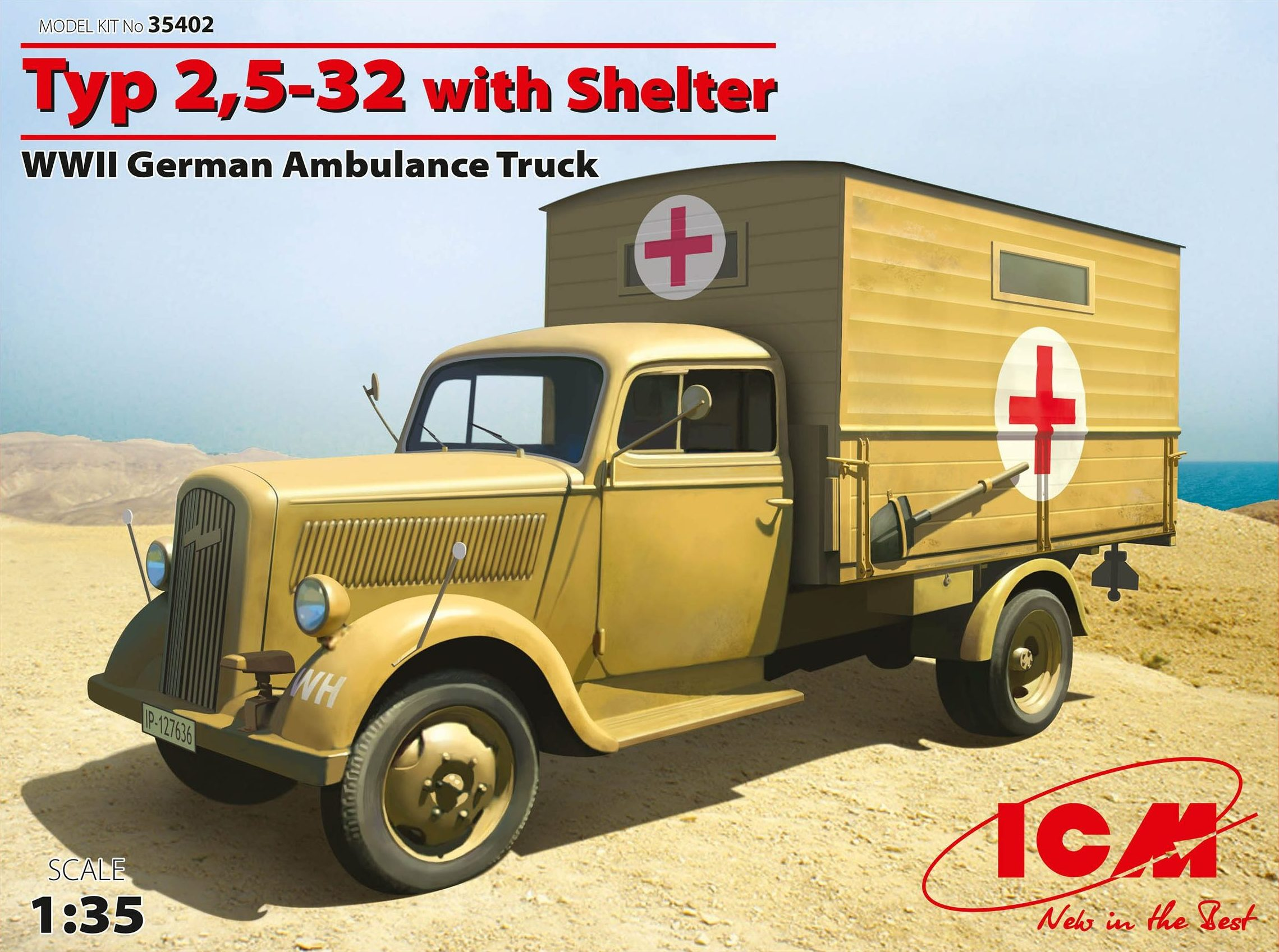 ICM Typ 2,5-32 with Shelter, WWII German Ambulance Truck
