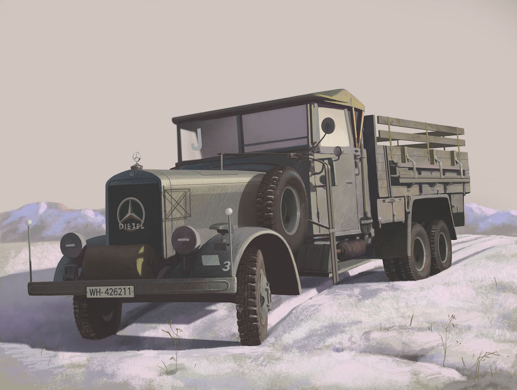 ICM Typ LG3000, WWII German Army Truck