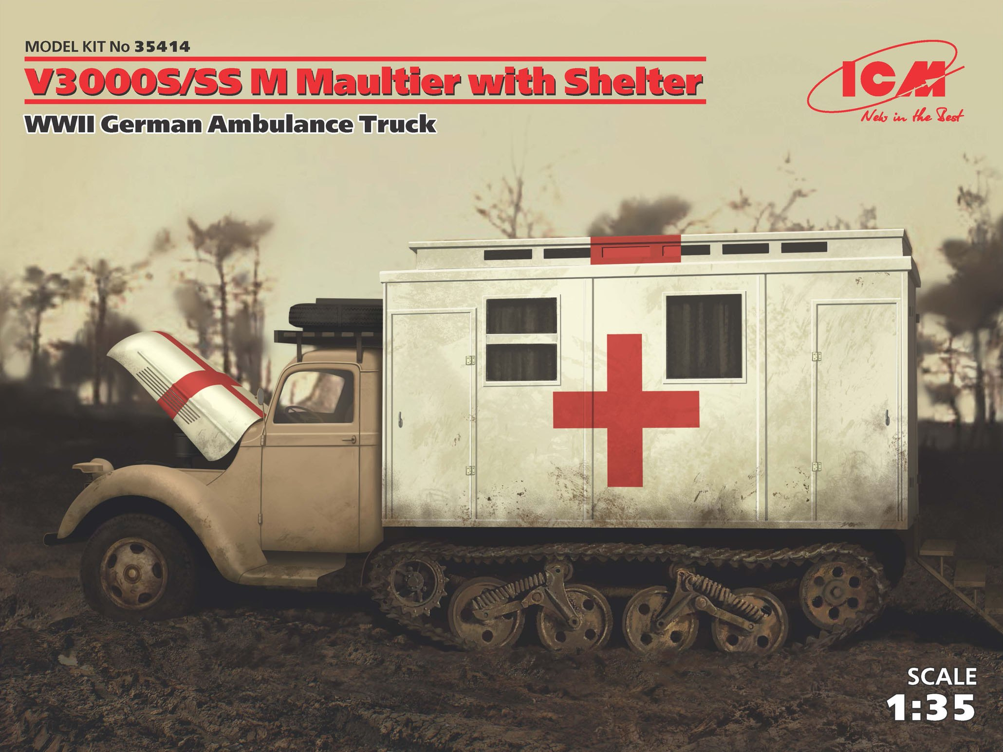ICM V3000S/SS M Maultier with Shelter, WWII German Truck