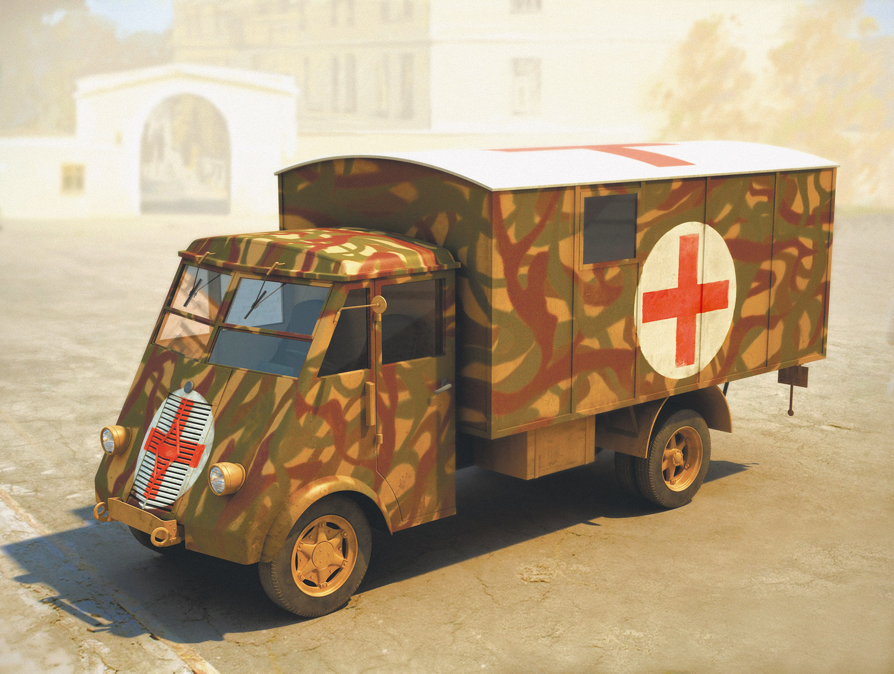 ICM Lastkraftwagen 3,5 t AHN with Shelter, WWII German Ambulance Truck