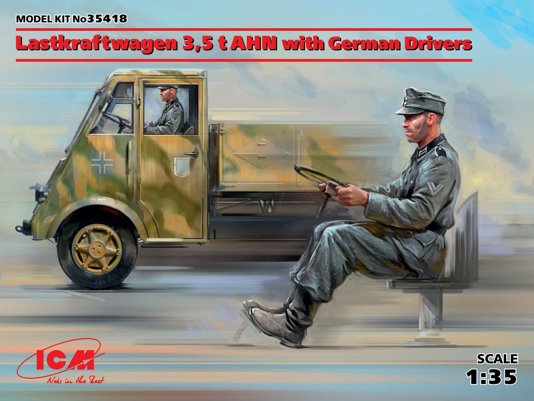 ICM 1/35 Lastkraftwagen 3,5 t AHN with German Drivers