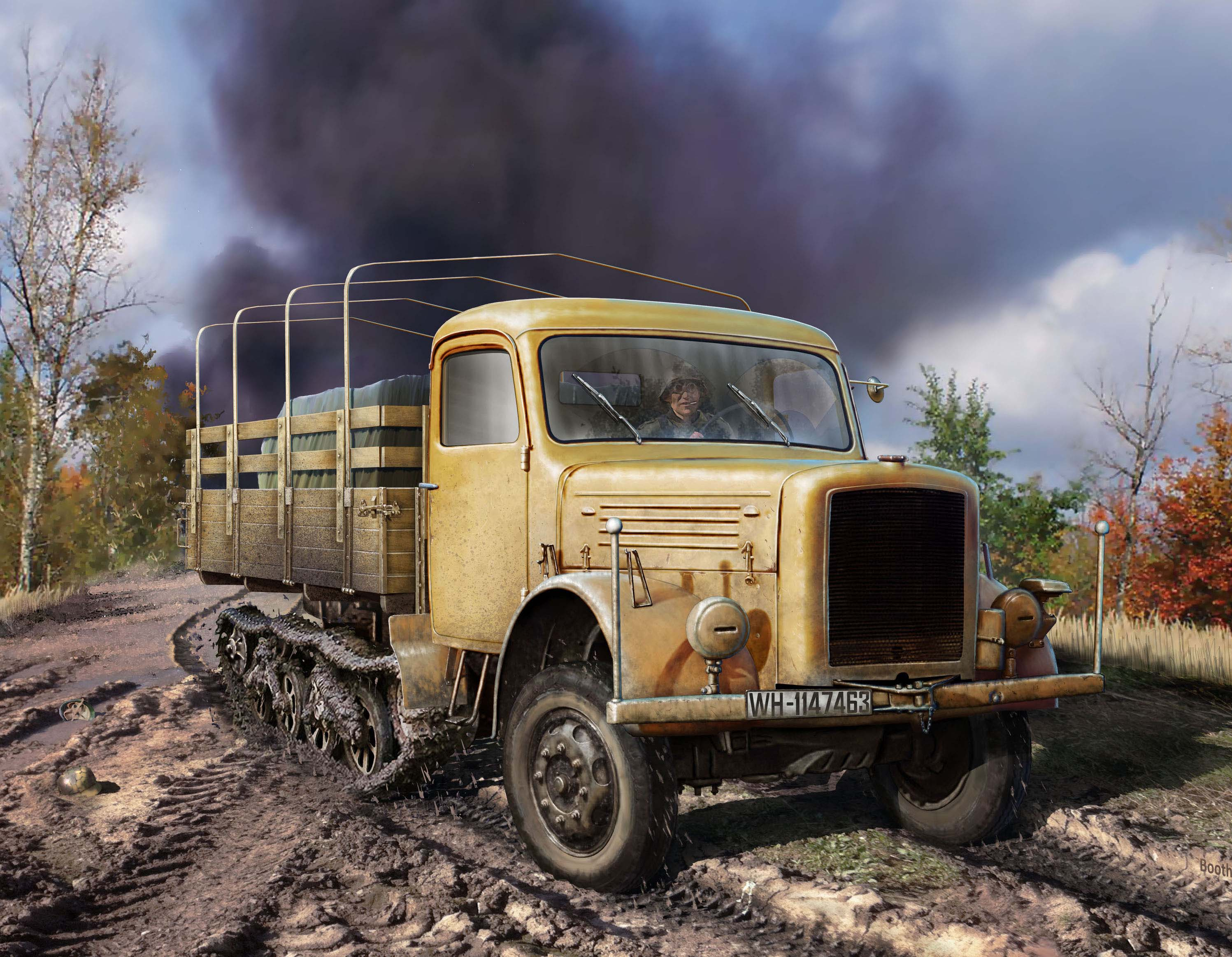 ICM KHD S3000/SS M Maultier, WWII German Semi-Tracked Truck