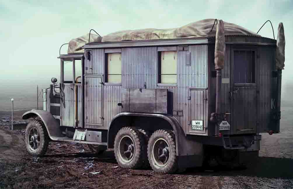 ICM Krupp L3H163 Kfz.72, WWII German Radio Communication Truck