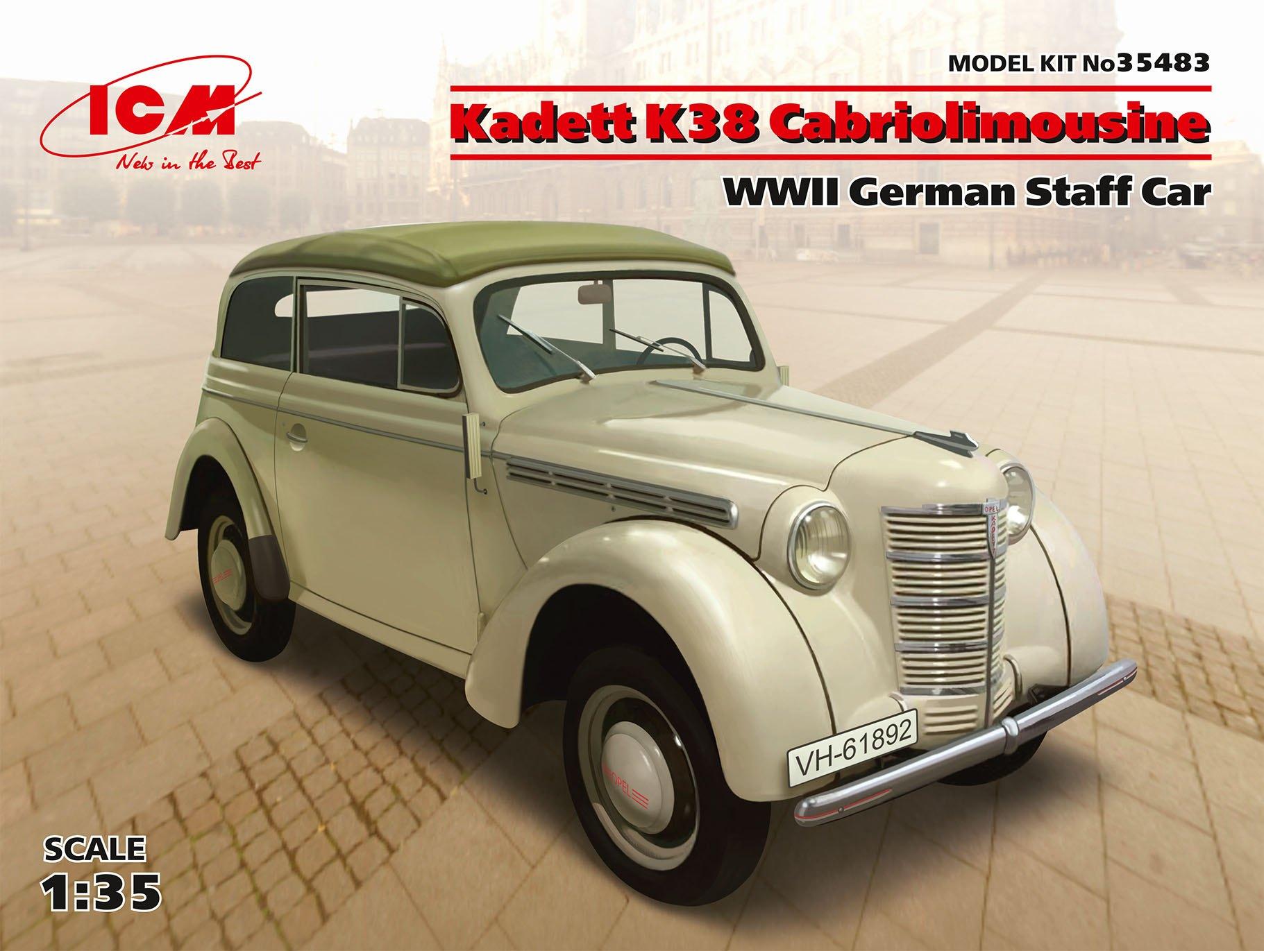 ICM Kadett K38 Cabriolimousine, WWII German Staff Car