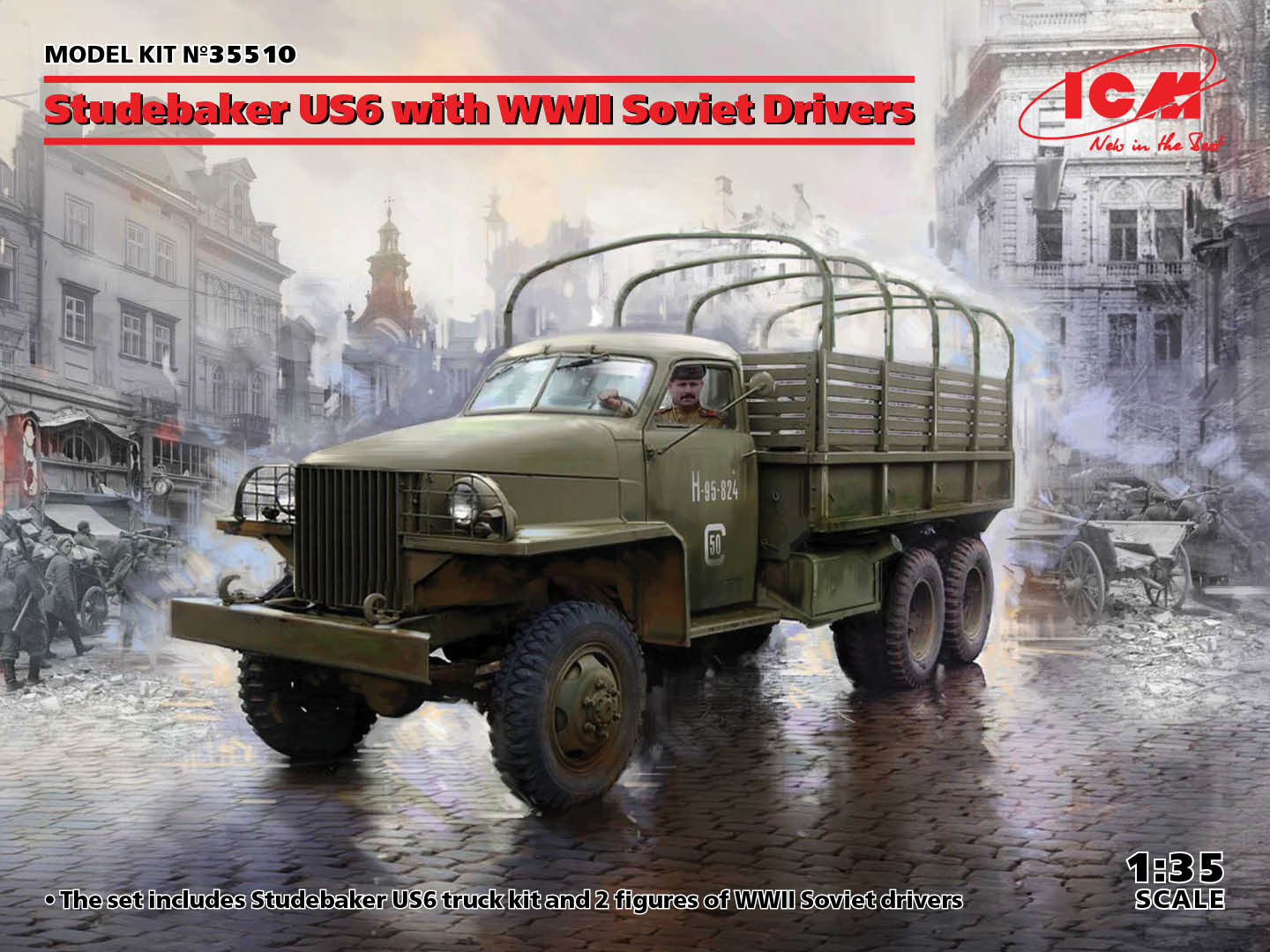 ICM 1/35 Studebaker US6 with WWII Soviet Drivers