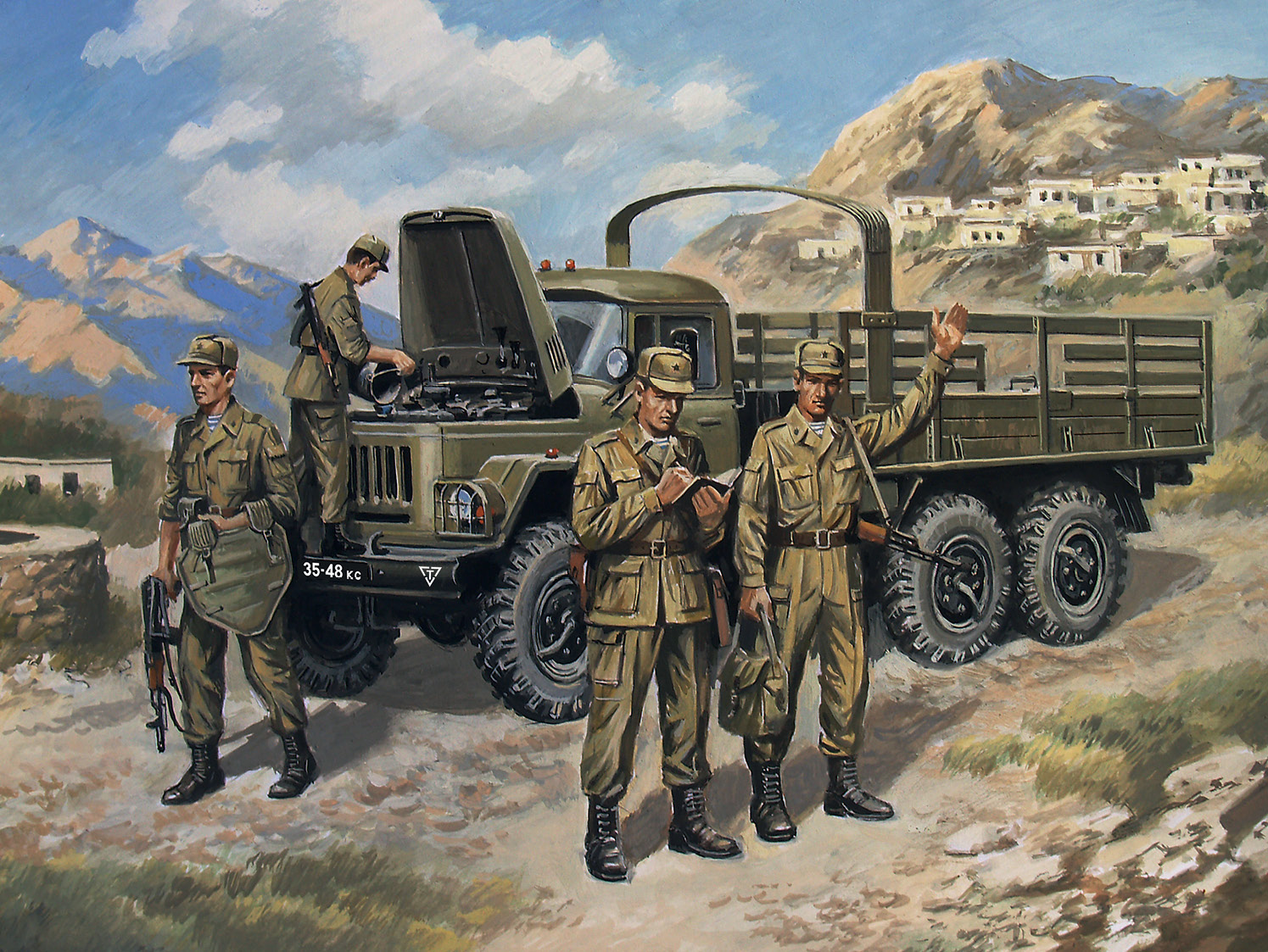 ICM ZiL-131, Soviet Truck with Soviet Motorized Rifles