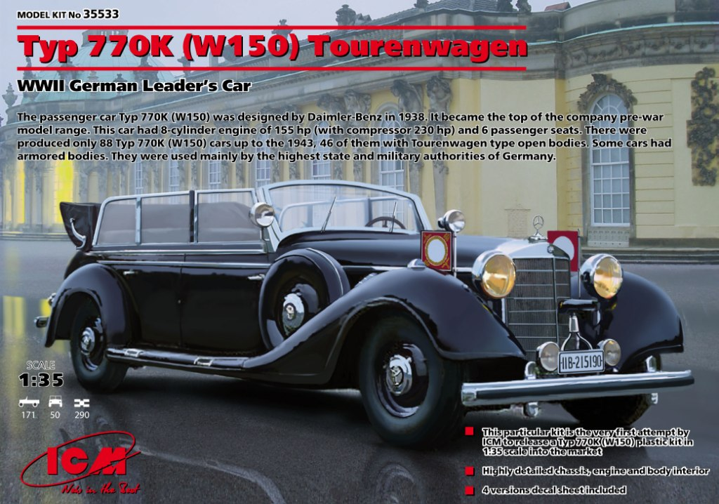 "ICM Typ 770K (W150) Tourenwagen, WWII German Leader""s Car"