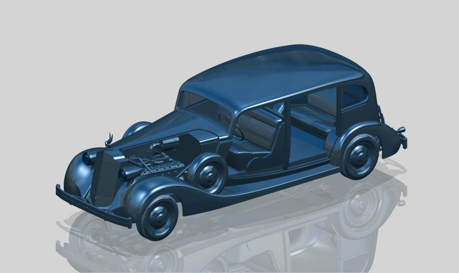 "ICM Packard Twelve (Model 1936), WWII Soviet Leader""s Car with Passengers (5 figures)"